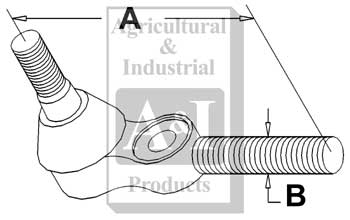 UM01604 Complete Right Hand Tie Rod Assembly---Replaces 553321