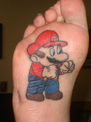 This Super Mario Back Tattoo could just be what the doctor ordered,