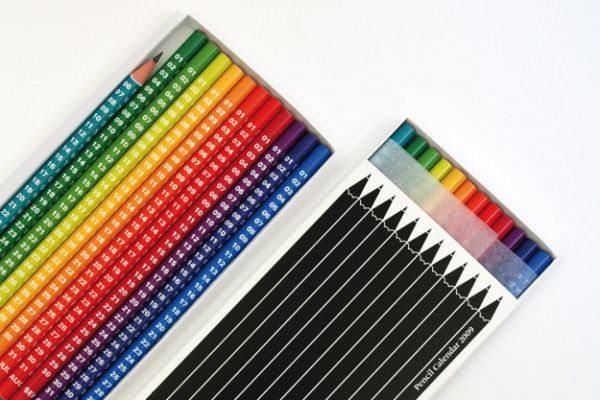 creative calendar design colored pencils image