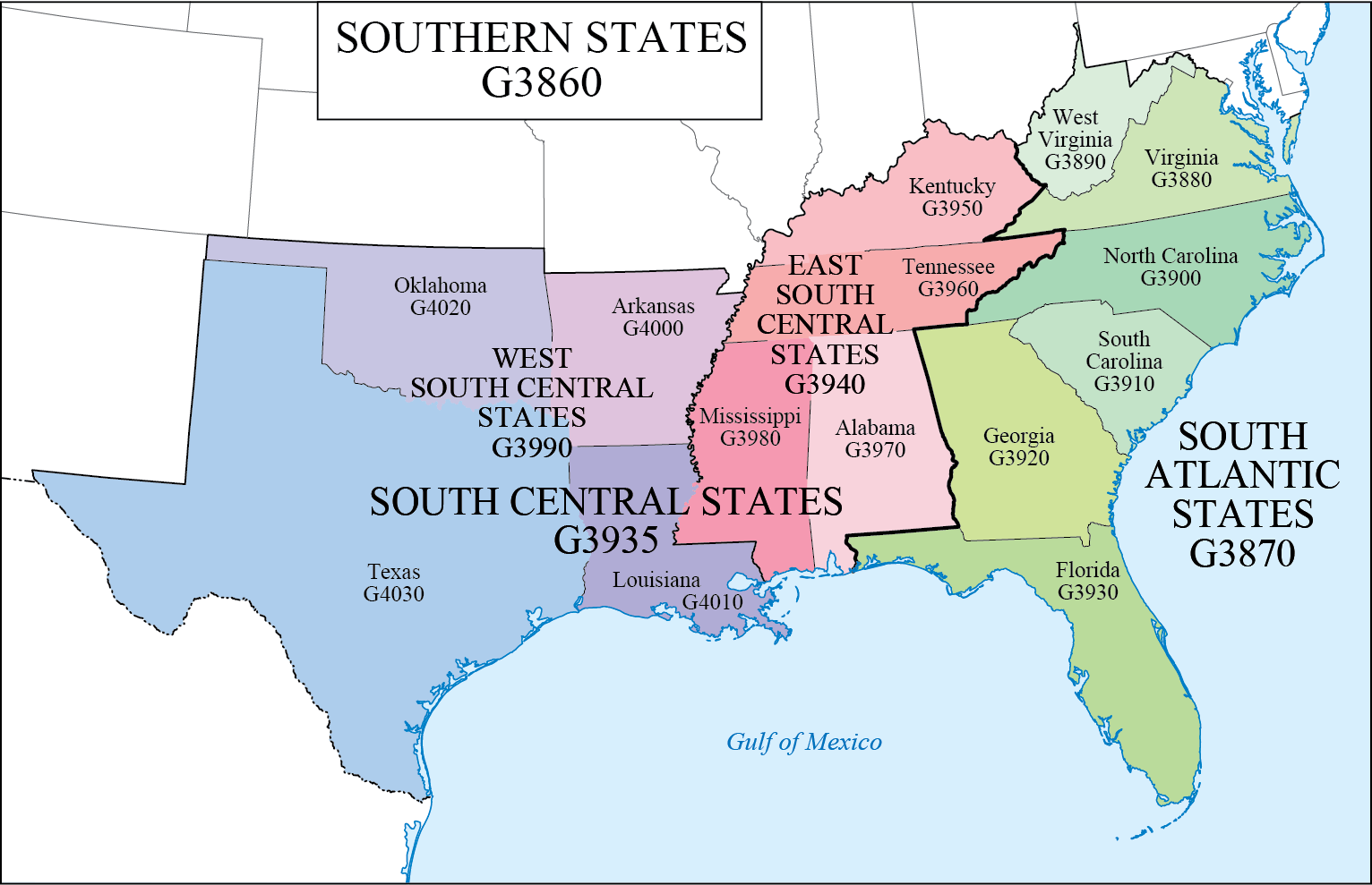 Lc G Schedule Map 8 Southern States