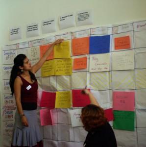Kara Andrade & Anca Mosoiu manage the agenda.