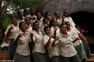 Staff at Tembe Elephant Park.