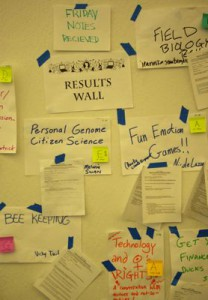 Results wall at She's Geeky