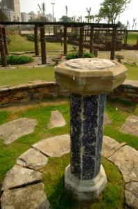 Sundial at sunken garden, Durban