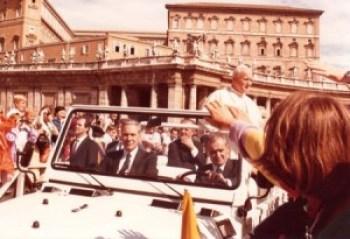 Wanda Hennig snaps Pope Paul II at the Vatican.