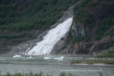 Nugget Falls at Mendenhall Glacier, Juneau, Alaska    wandasknottythoughts.com