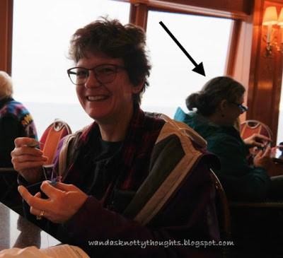 Crafting on the Alaska cruise   wandasknottythoughts.com