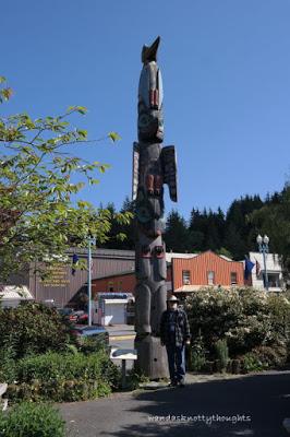 Totem pole in Ketchikan, Alaska wandasknottythoughts.com