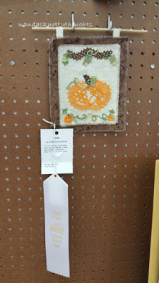 """""""Autumn Pumpkin"""" tatted lace design by Mark Meyers tatted by Wanda Salmans, 3rd place in Holiday Decoration 2015 Kansas State Fair wandasknottythoughts"""