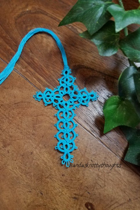 """""""Milan"""" tatted cross bookmark on wandasknottythoughts"""