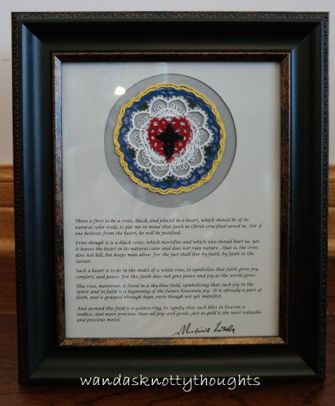 Luther's Rose mounted and framed on wandasknottythoughts