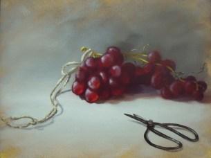 Grapes, Scissors (12x16)