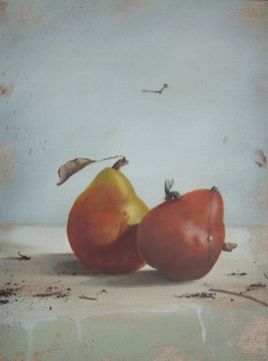 Red Pears (16x12) (SOLD)
