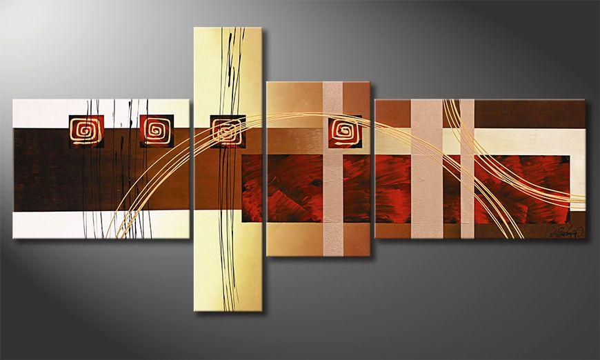 Das Wohnzimmerbild Golden Ways 160x80cm  Wandbilder XXL