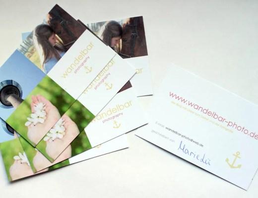 Visitenkarten Blogger