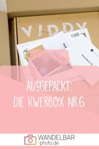 Ausgepackt: Das war in der Fotografiebox #Kwerbox Nr. 6