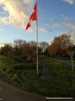 Canadese vlag onderweg