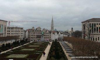 zicht op het centrum van Brussel vanaf de Kunstberg