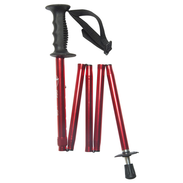 Opvouwbare nordic walking stok - rood