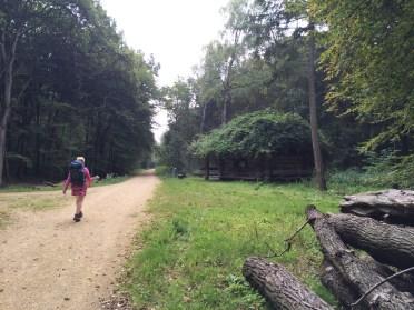 Schuilhut onderweg