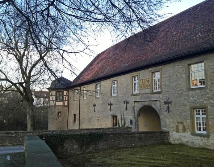 Ankunft am ehemaligen Schrozberger Wasserschloss