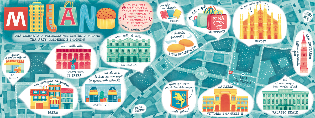 Image result for milan map cute