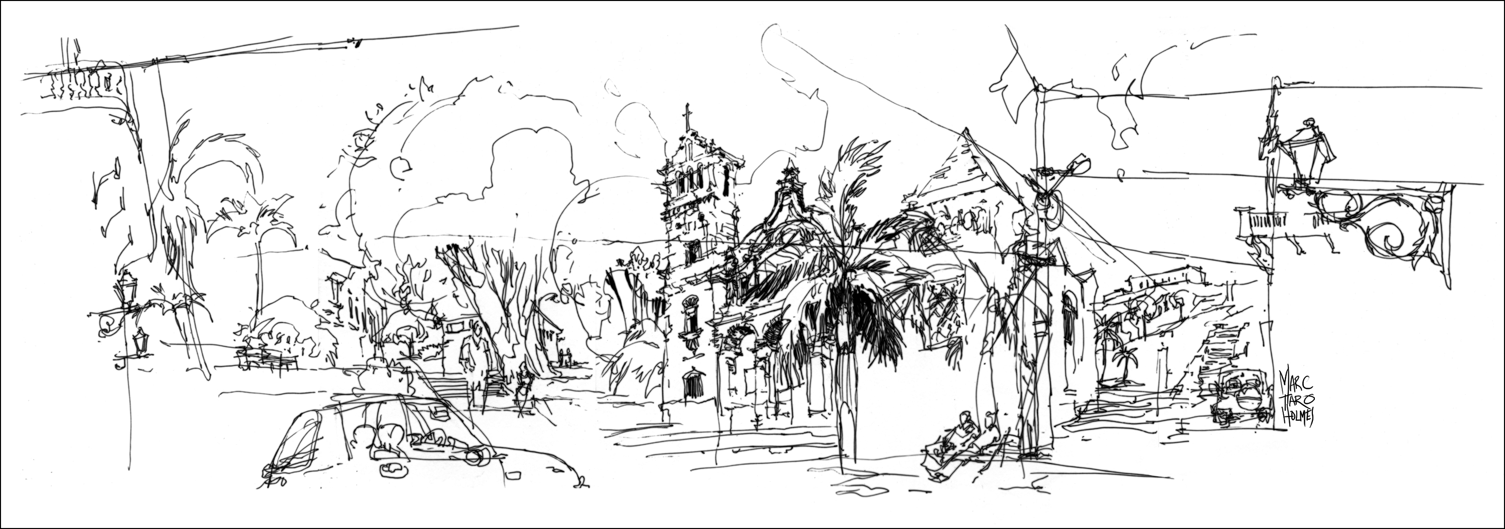 Bringing People and Places to Life: Fluid Travel Sketches