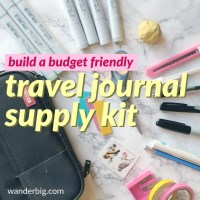 My Travel Art Journal Kit - What I Carry as a Traveling Artist