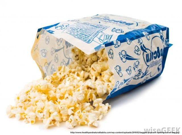 Microwavable popcorn