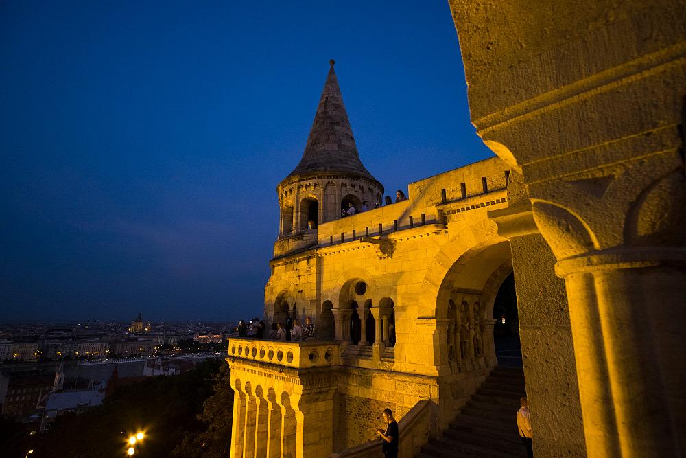 Vista nocturna de Budapest