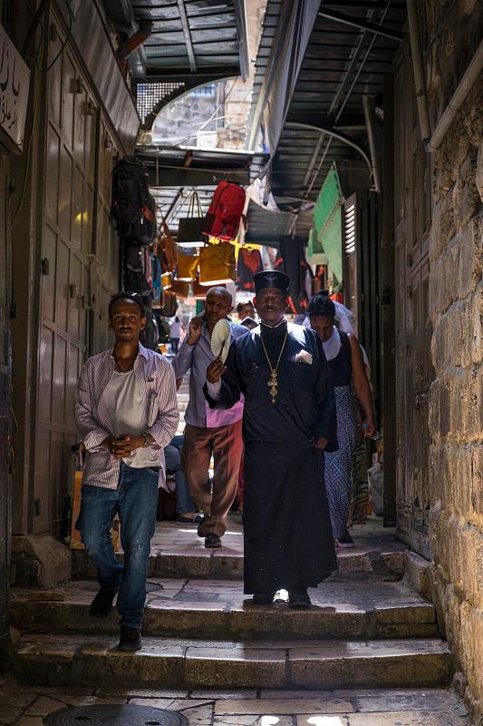 Peregrinos en Jerusalén