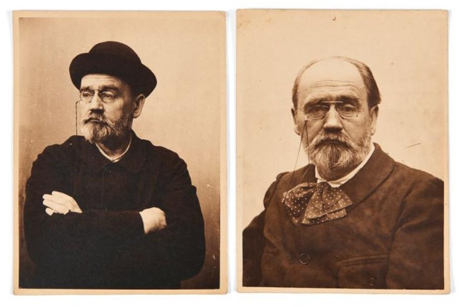 Autorretratos de Émile Zola