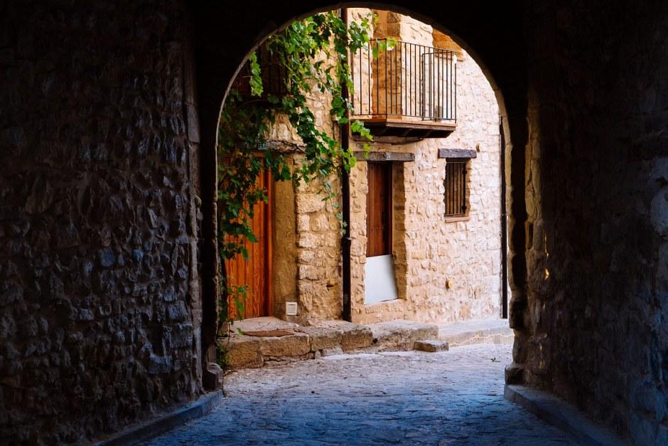 Calle de Valderrobres en el Matarraña