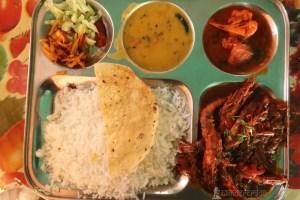 Tiger Prawn meal at Satapada