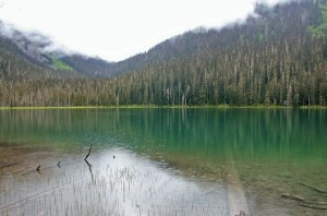 Het Lower Joffre Lake is ietsje minder interessant
