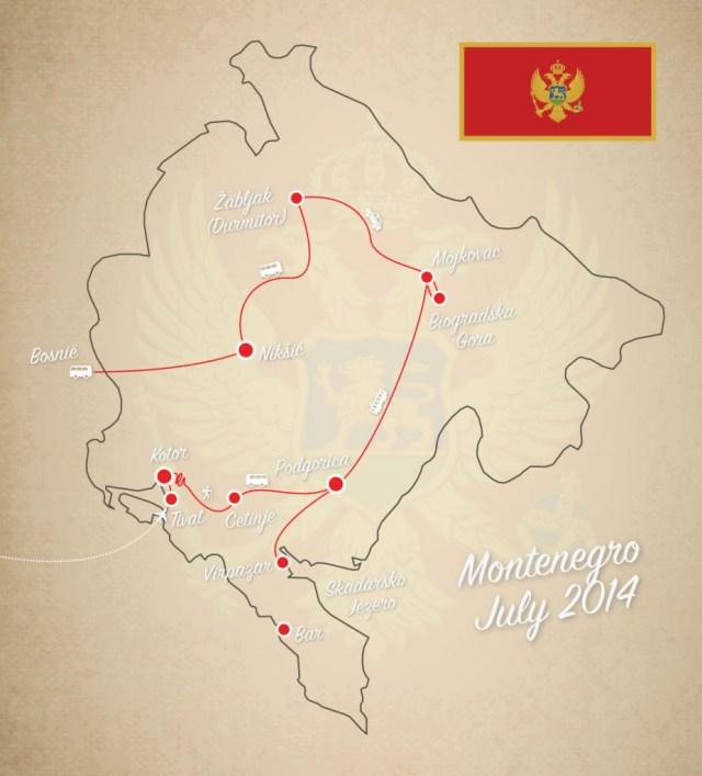 Reizen Montenegro - onze reisplanning