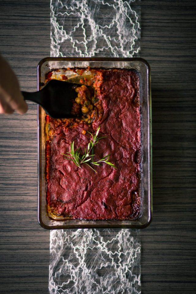 Vegan ovenschotel