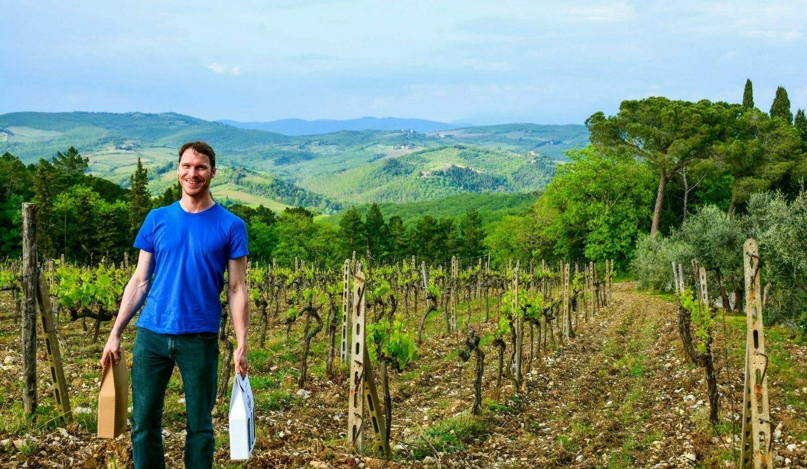 Ryan in Tuscany Winery