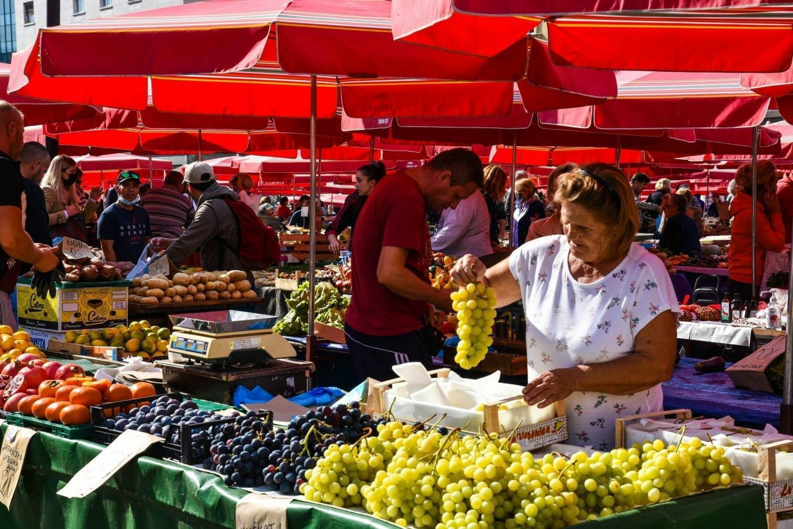 Cathedral Market, Zagreb, Croatia