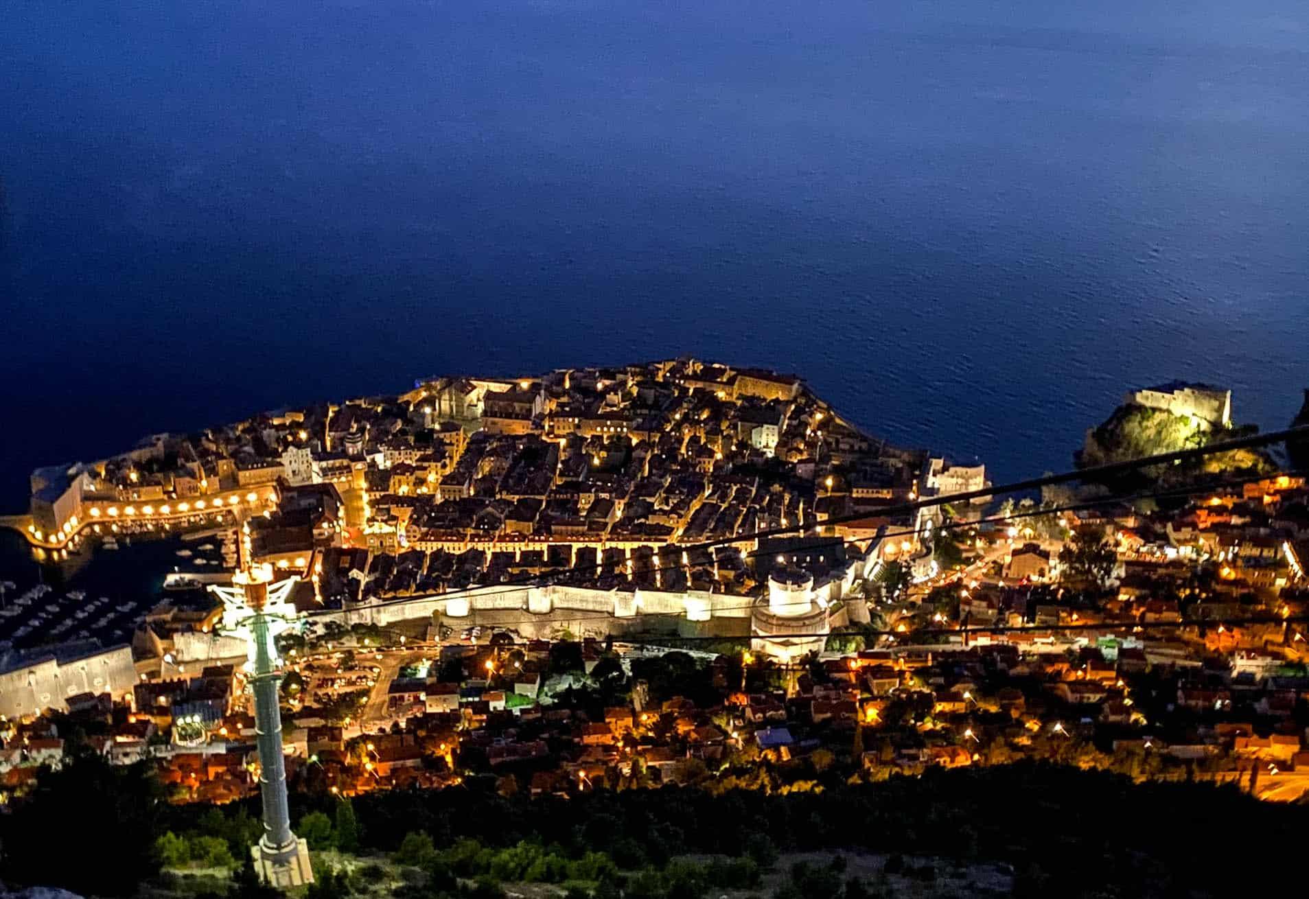 Nighttime Dubrovnik