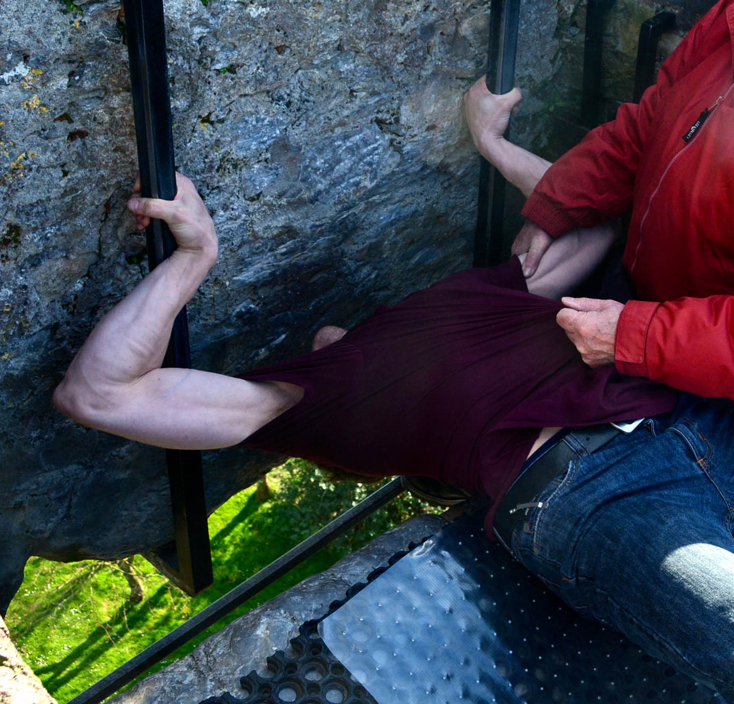 Blarney Castle Ryan kissing the Blarney Stone