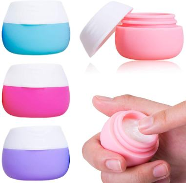 Travel containers for makeup and creams