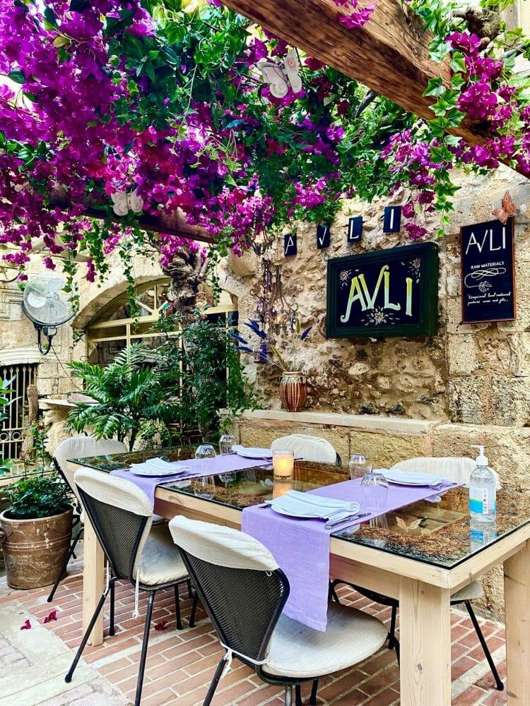 Avli Restaurant, Rethymno