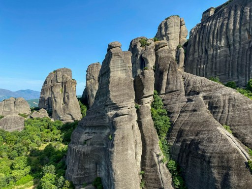 Rock formations at Meteora Monasteries