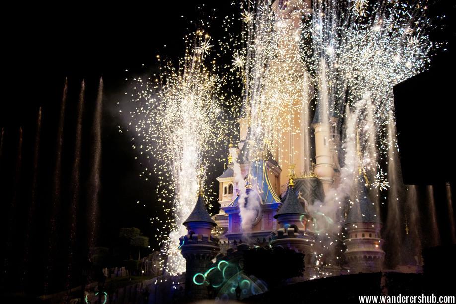 Light show Disneyland