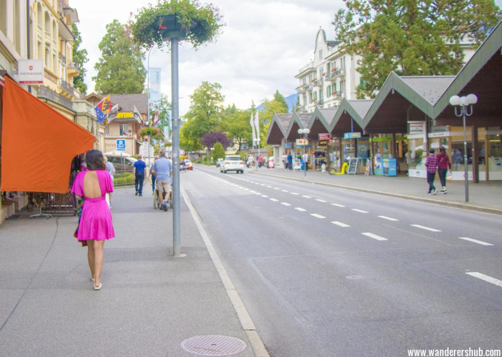 Meandering Interlaken streets