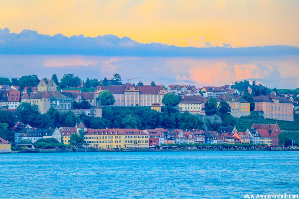 sunset lake constance germany
