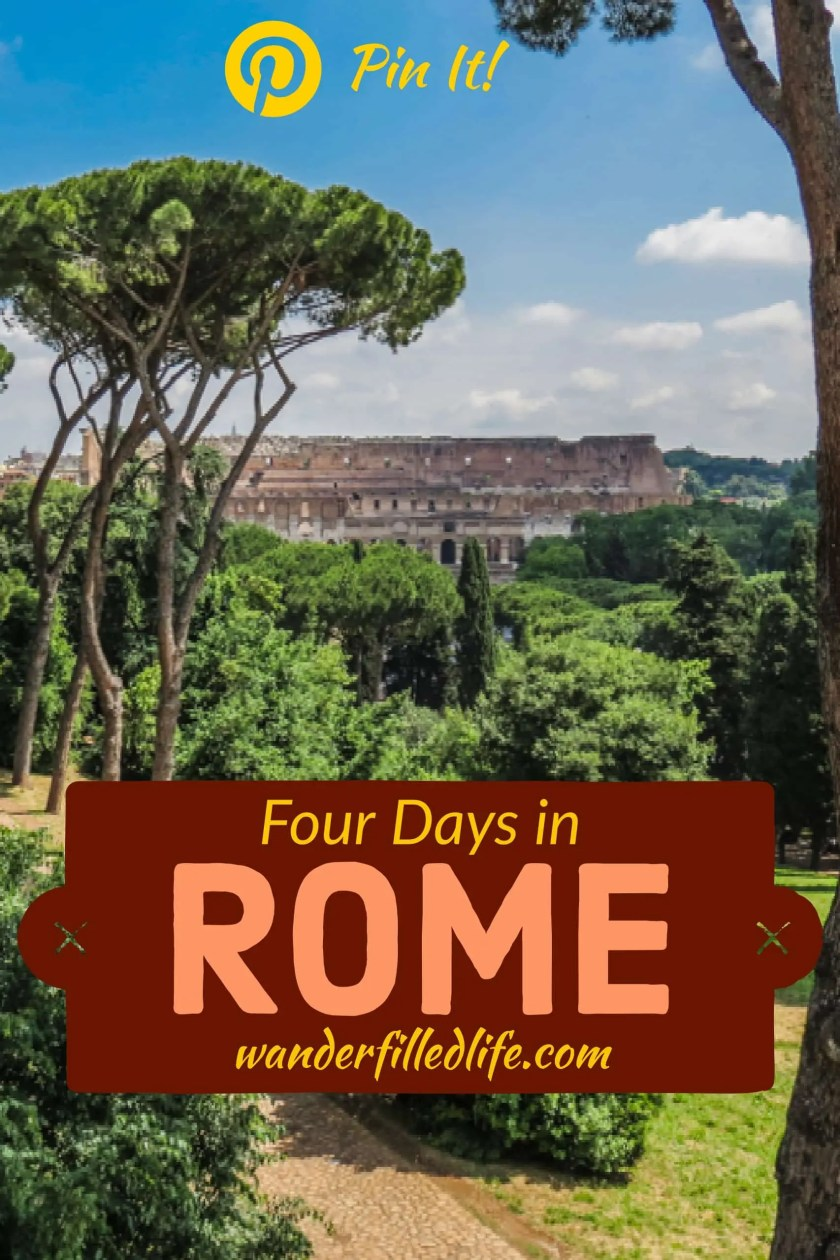 A day-by-day itinerary for four days in Rome. Includes visits to major sites, such as the Vatican, and off-the-beaten-path sites, such as Ostia Antica.