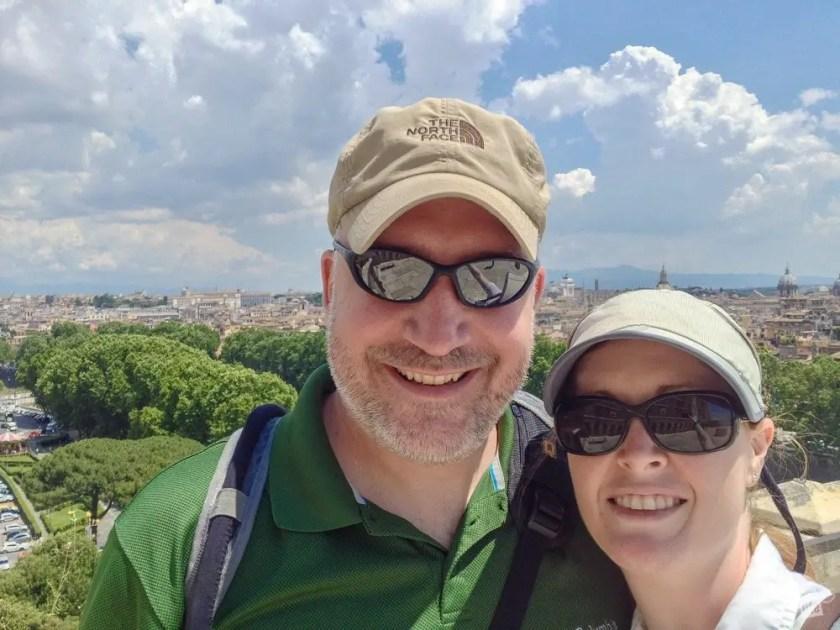Selfie on top of the Castel Sant'Angelo