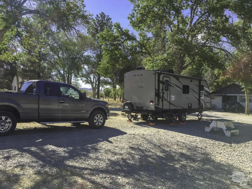 Camping outside of Great Basin NP.